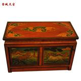 二门柜茶几 全实木,榫卯结构,纯天然矿物颜料